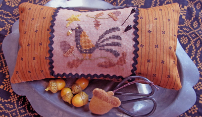 Homespun Elegance - Country Spirits Collection - Acorn Lover Needle Necessaires - Cross Stitch Pattern