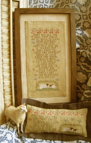Homespun Elegance - A Woolly Story Cross Stitch Pattern