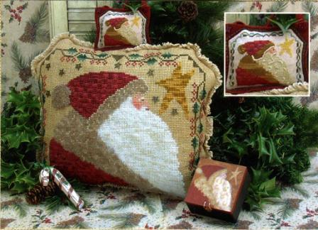 Homespun Elegance - Cinnamon Stick Santa XX - Elegant Kris Kringle - Cross Stitch Pattern