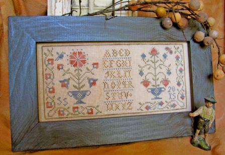 Homespun Elegance - Colonial Flowers / Revisited-Homespun Elegance - Colonial Flowers  Revisited, sampler, patriotic, flowers,