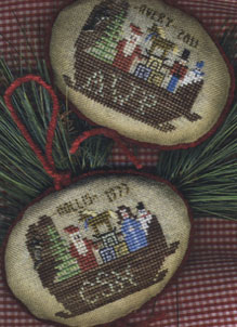 Homespun Elegance - Merry Noel Collection - Cradle of Christmas Joy - Cross Stitch Pattern