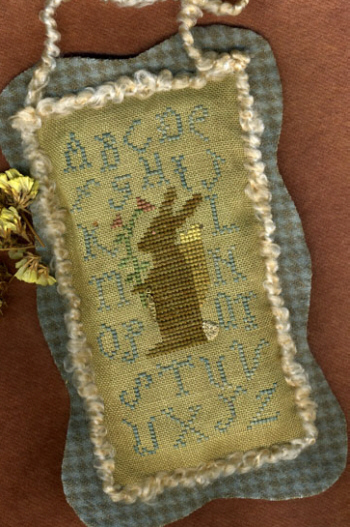 Homespun Elegance - Plain and Fancy Collection - Sampler Bunny  Cross Stitch Pattern