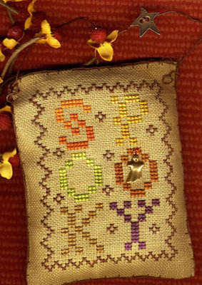 Homespun Elegance - A Halloween Year - August - Spooky - Cross Stitch Pattern