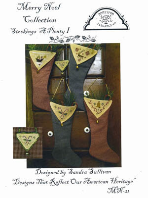 Homespun Elegance - Merry Noel Collection - Stockings 'A Plenty 1 - Cross Stitch Pattern