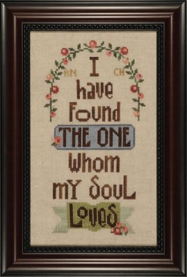 Heart in Hand Needleart - Song of Soloman - Cross Stitch Pattern