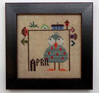 Heart in Hand Needleart - Joyful Journal - Part 5 of 12 - April - Cross Stitch Pattern