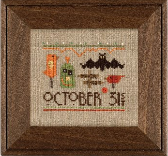 Heart in Hand Needleart - A Smidgen of Halloween - Cross Stitch Pattern