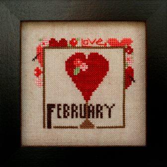 Heart in Hand Needleart - Joyful Journal - Part 3 of 12 - February - Cross Stitch Pattern