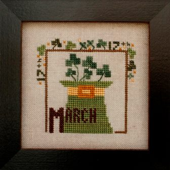 Heart in Hand Needleart - Joyful Journal - Part 4 of 12 - March - Cross Stitch Pattern