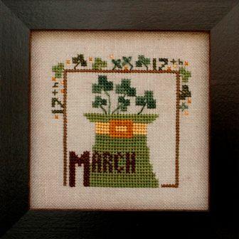 Heart in Hand Needleart - Joyful Journal - Part 4 of 12 - March - Cross Stitch Pattern