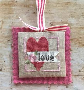 Heart in Hand Needleart - Merrymaking Mini - Floral Heart-Heart in Hand Needleart - Merrymaking Mini - Floral Heart, love, flowers, Valentines Day, cross stitch