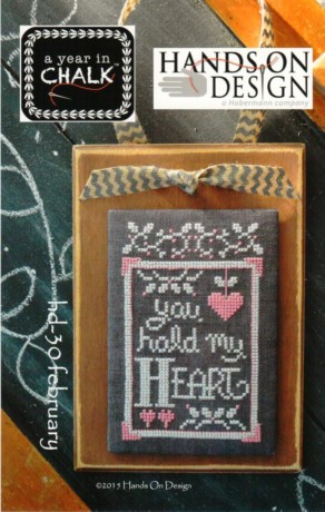 Hands On Design - A Year in Chalk - Part 2 - February - Cross Stitch Pattern