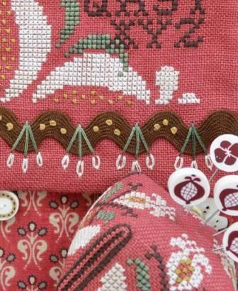 Hands On Design - Pomegranate Pocket & Pin - Cross Stitch Pattern