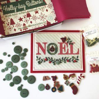 Just Another Button Company - Holly Days - Limited Edition-Just Another Button Company - Holly Days - Limited Edition, Christmas, holly, garland, buttons,