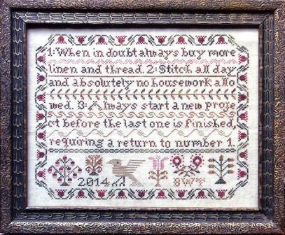 Heartstring Samplery - Stitcher's Resolution - Cross Stitch Pattern