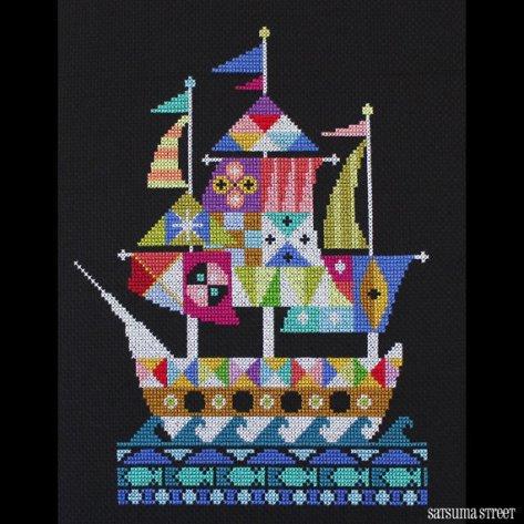 Satsuma Street - Voyage-Satsuma Street - Voyage, ships, sailing, ocean, pirate ship, cross stitch