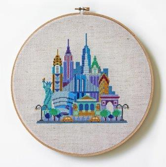 Satsuma Street - Pretty Little New York-Satsuma Street - Pretty Little New York, big city, big apple, United States, cross stitch