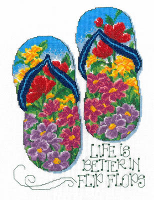 Imaginating - Flip Flop Summer - Cross Stitch Chart