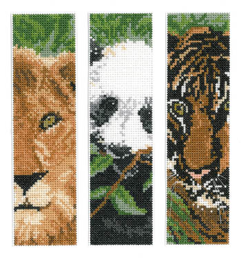 Imaginating - Wild Animal Bookmarks - Cross Stitch Patterns