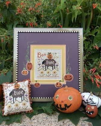 Shepherd's Bush - Boo To Ewe Kit-Shepherds Bush - Boo To Ewe Kit, Halloween, pumpkin, fall, cross stitch