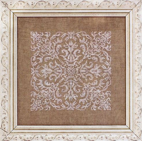 Ink Circles - Damask Square - Cross Stitch Pattern-Ink Circles, Damask Square, lace, doily, monochromatic, Cross Stitch Pattern