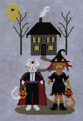 ixstitch.com - Catracula And Witchenboots - Cross Stitch Pattern