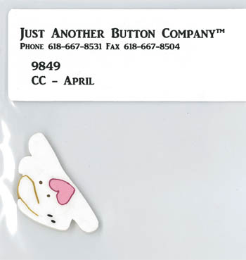 Just Another Button Company - April Button Pack for Cross-Eyed Cricket April Chart