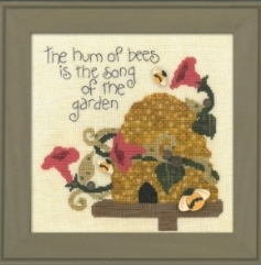 Just Another Button Company - Art to Heart - Garden Song - Part 2 - Bees Hum - Cross Stitch Pattern