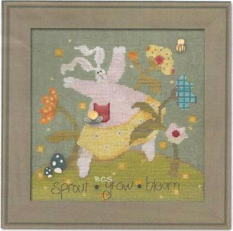 Just Another Button Company - Art To Heart - Garden Song - Part 1 - Sprout - Cross Stitch Pattern