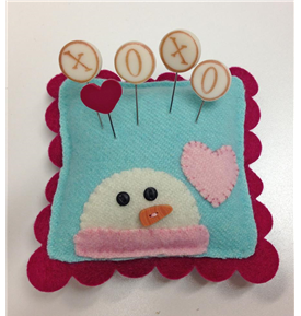Just Another Button Company - Seasonal Sliders on Ice - Snow Kisses Pin Cushion Kit