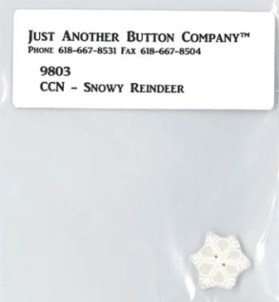 Just Another Button Company - CCN - Frosty Forest - Snowy Reindeer Button