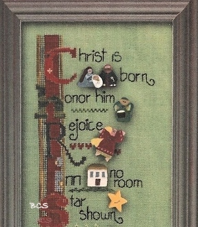Just Another Button Company - Art To Heart - Christmas Tidings - Cross Stitch Pattern with JABC Buttons