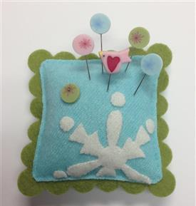 Just Another Button Company - Seasonal Sliders on Ice - Frost Slider Pin Cushion Kit