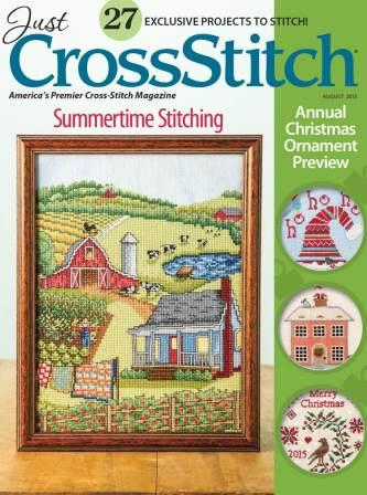 Just Cross Stitch - 2015 #4 Issue Annual Christmas Ornament Preview Issue - July/August