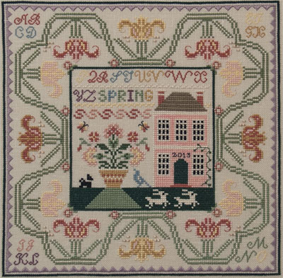 Just Nan - Spring in the Tulips with Embellishments  - Cross Stitch Pattern