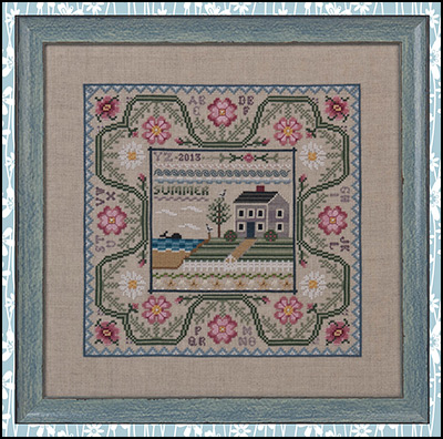 Just Nan - Summer by the Sea - Cross Stitch Pattern-Just Nan, Summer by the Sea, Cross Stitch Pattern