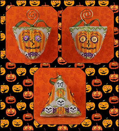 Just Nan - Wild Eyed Jacks & Embellishments-Just Nan - Wild Eyed Jacks  Embellishments, Halloween, ornament, pumpkin, fall, autumn, cross stitch