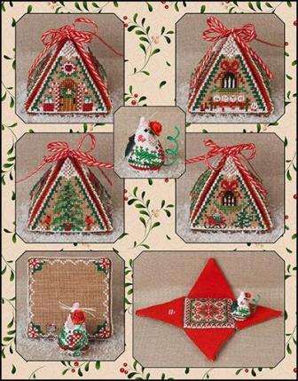 Just Nan - Christmas Mouse in a House & Embellishments Limited Edition-Just Nan - Christmas Mouse in a House  Embellishments  Limited Edition, Christmas,