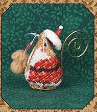 Just Nan - 2016 Ornament Shop - Gingerbread Santa Mouse & Embellishments