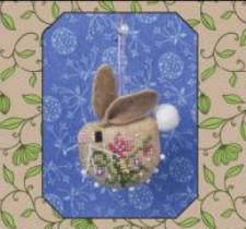 Just Nan - Honey Bunny Ornament with Embellishments - Cross Stitch Chart