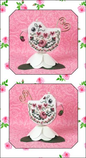 Just Nan - 2017 Ornament Shop - Rosebud Tweet - Limited Edition Ornament