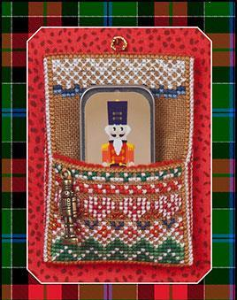 Just Nan - Nutcracker Slide Pocket, Mini Needle Slide & Embellishments-Just Nan - Nutcracker Slide Pocket, Mini Needle Slide  Embellishments, Christmas, nutcracker, ornaments,