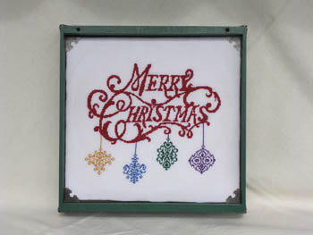 Keslyn\'s - Merry Christmas Tray - Cross Stitch Chart-Keslyn's - Merry Christmas Tray - Cross Stitch Chart, ornaments, hanging decorations, festive,