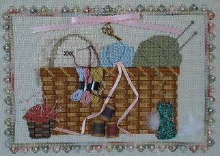 A Kitty Kats Original - Basket of Dreams - Cross Stitch Pattern