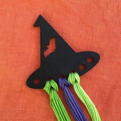 Kelmscott Designs - Witch Hat Threadkeep-Kelmscott Designs - Witch Hat Threadkeep, floss keep, organizer, cross stitch, black hat,