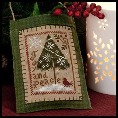 Little House Needleworks - Ornament of the Month 2011 - Joy & Peace - Cross Stitch Pattern