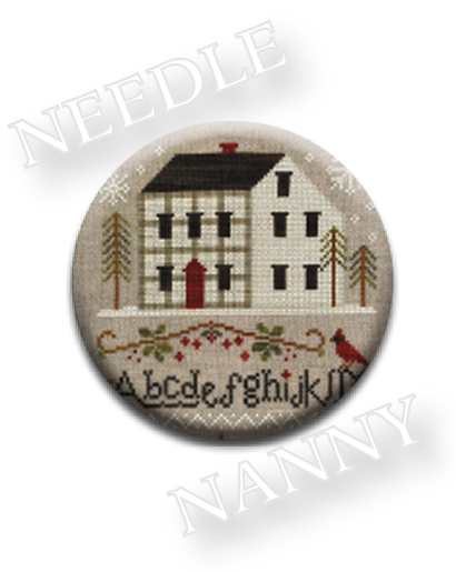 Stitch Dots - Winter Plaid Needle Nanny by Little House Needleworks