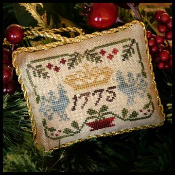 Little House Needleworks - The Sampler Tree - Part 3 of 12 - Three Crowns - Cross Stitch Pattern