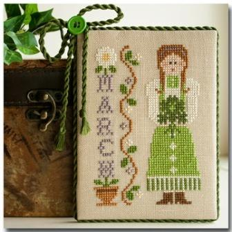 Little House Needleworks - Calendar Girls - Part 3 of 12 - March - Cross Stitch Pattern