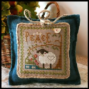 Little House Needleworks - Little Sheep Virtues - Part 03 of 12 - Peace - Cross Stitch Pattern